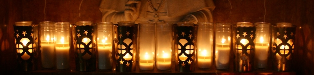 christ king church candles